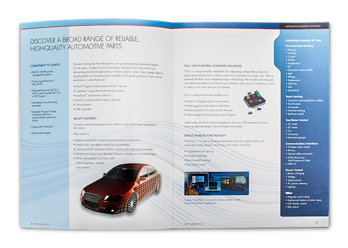 Cypress Automotive Solutions Brochure Spread 1