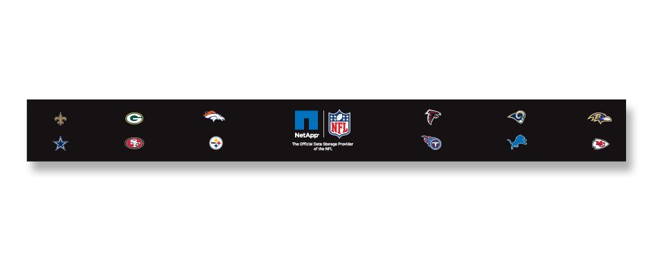 NetApp NFL Cafeteria Line Graphics
