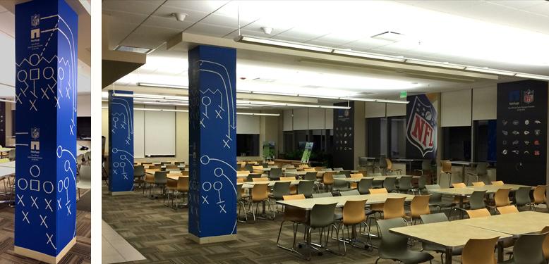 NetApp NFL Cafeteria Columns Image