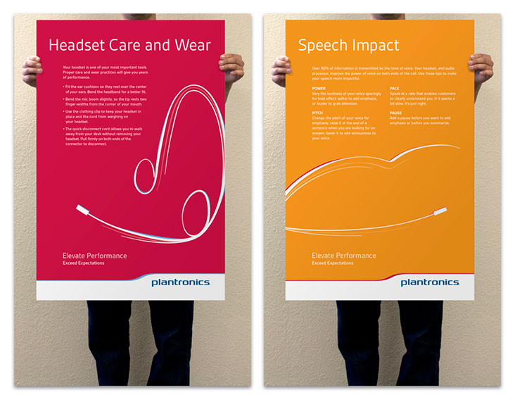 Headset Care and Wear and Speech Impact Posters