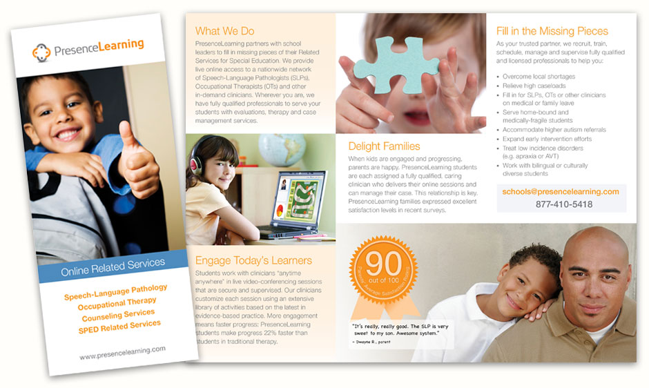 PresenceLearning Trifold Institutional Brochure