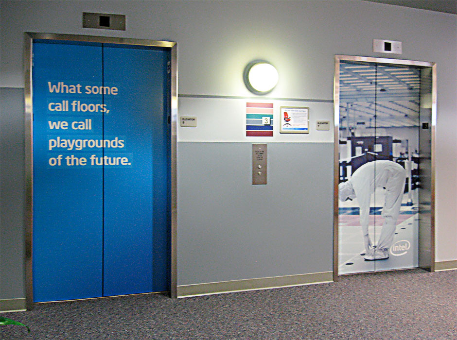 Intel Elevator Wraps Fineline Graphics Amp Design Inc