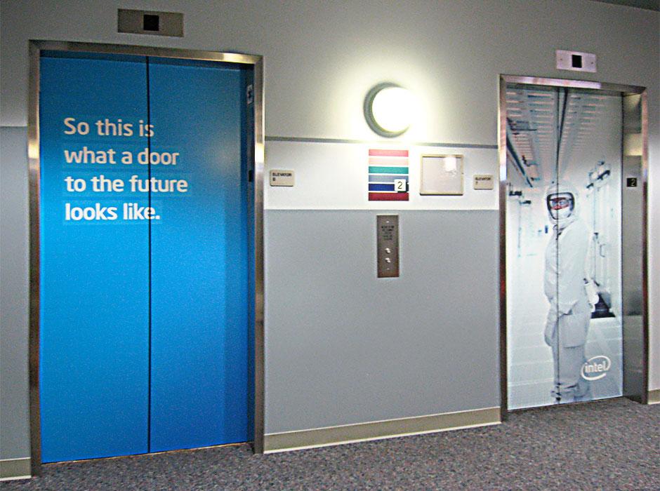 Intel Elevator Wraps Fineline Graphics Design Inc