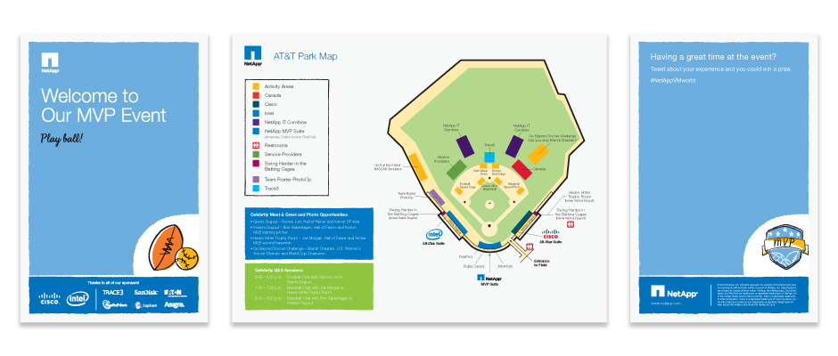 NetApp AT&T Event Map