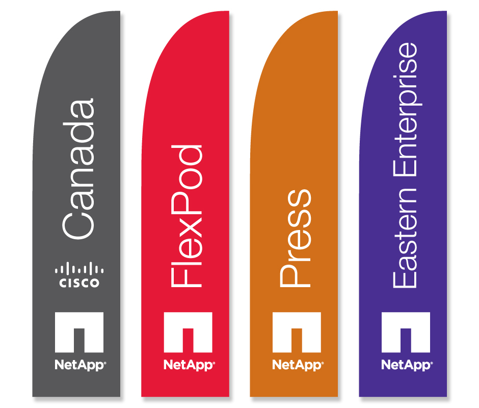 NetApp AT&T Event Sale Flags