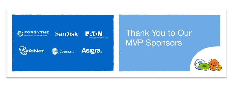 NetApp AT&T Event Sponsors artwork for the media score board.
