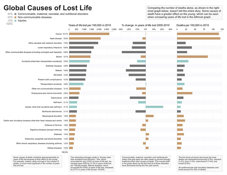 Global Causes of Lost Life