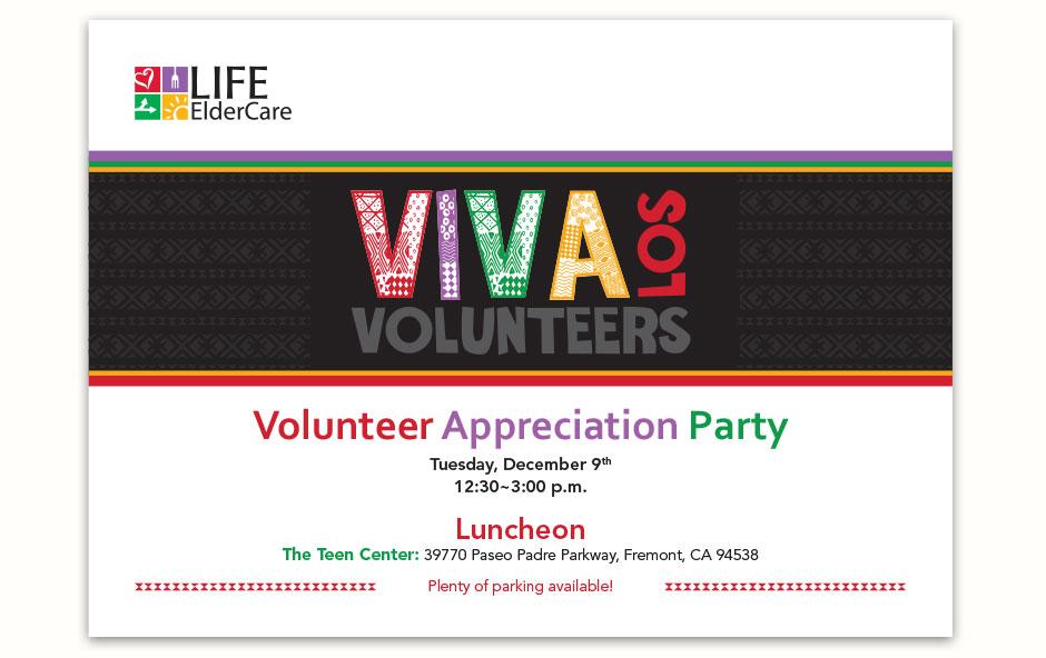 VIVA Los Volunteers 7x5 Postcard Front
