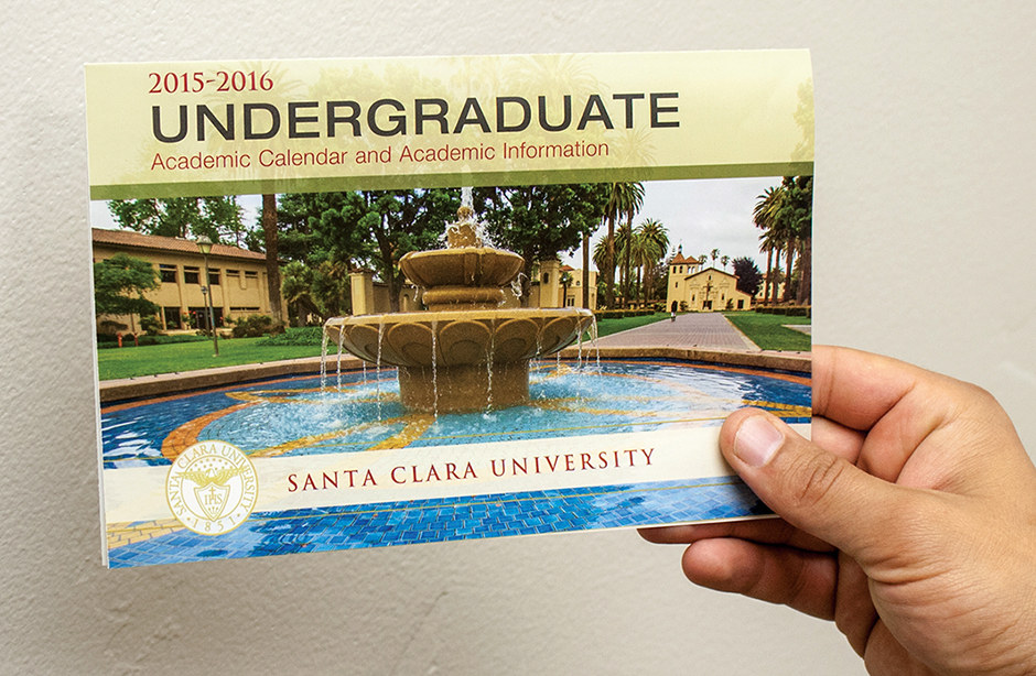 University Calendar Design : Santa clara university undergraduate academic