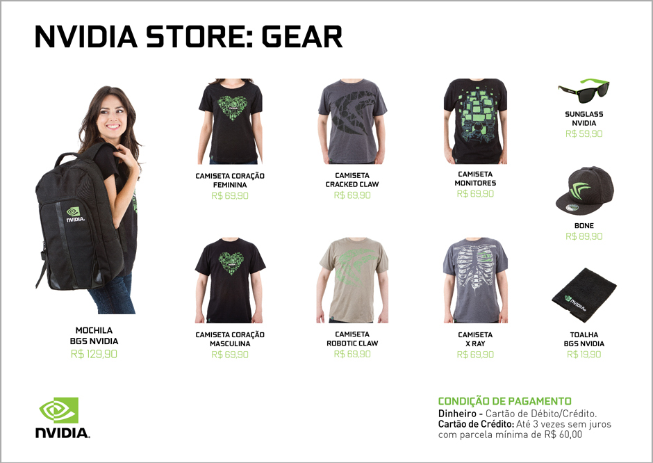 NVIDIA Store A4 Pricing Sheet with Girl