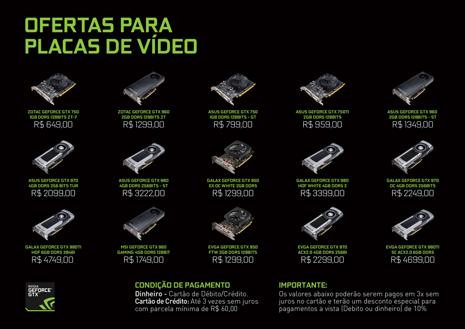 NVIDIA Store A4 Pricing Sheet of Hardware
