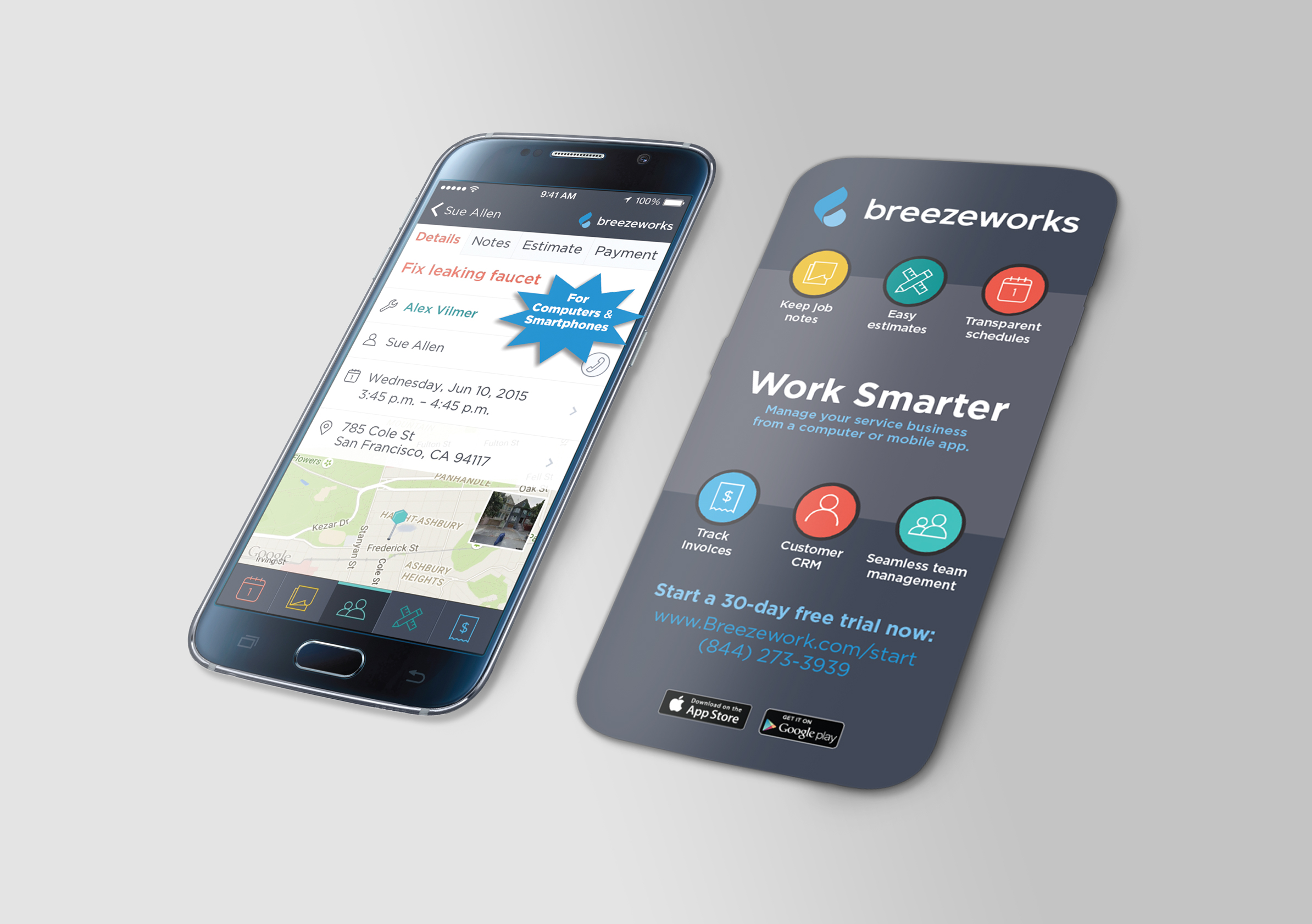 Breezeworks Galaxy S6 Promo Card