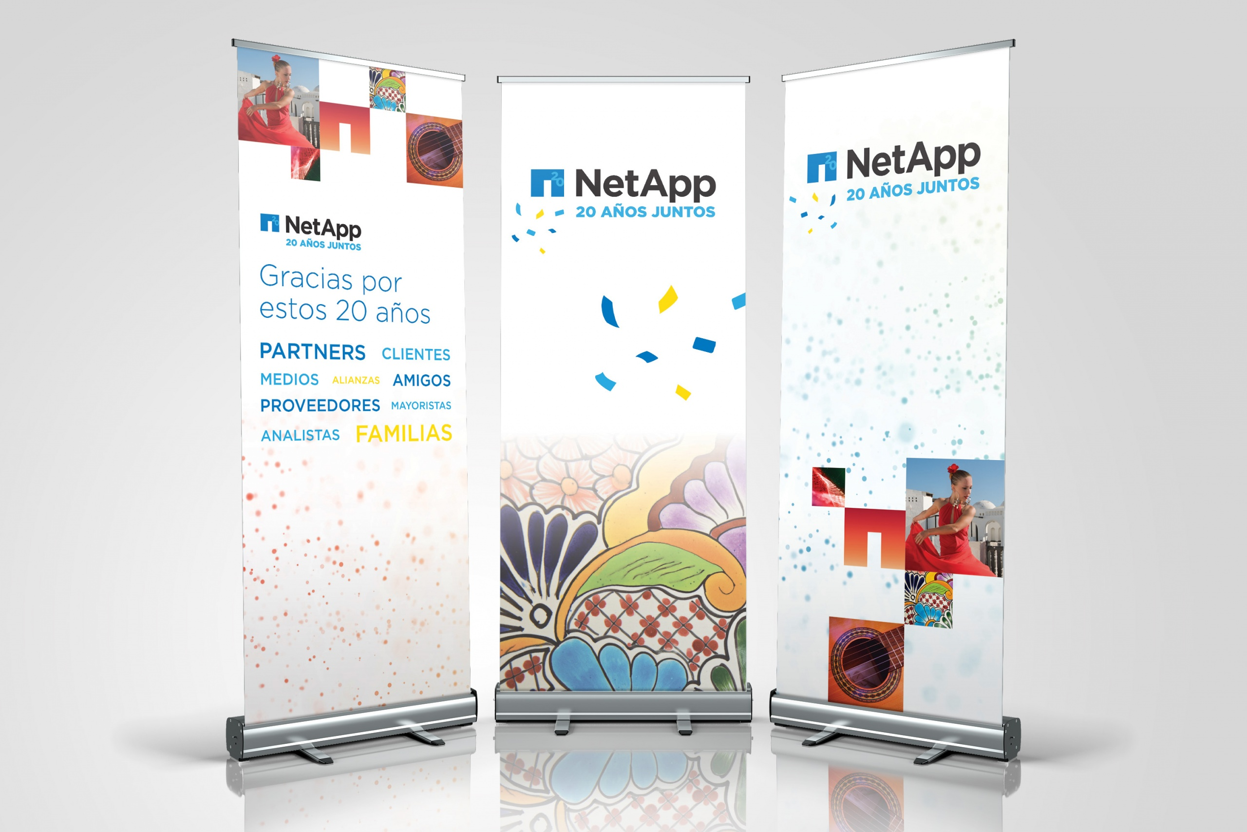 NetApp 20 Years in Spain Anniversary Banners