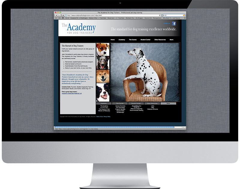 Academy for Dog Trainers Website