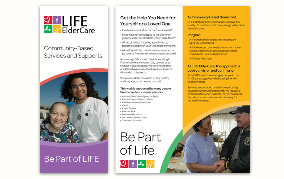 LIFE ElderCare Program Brochure Cover and Spread