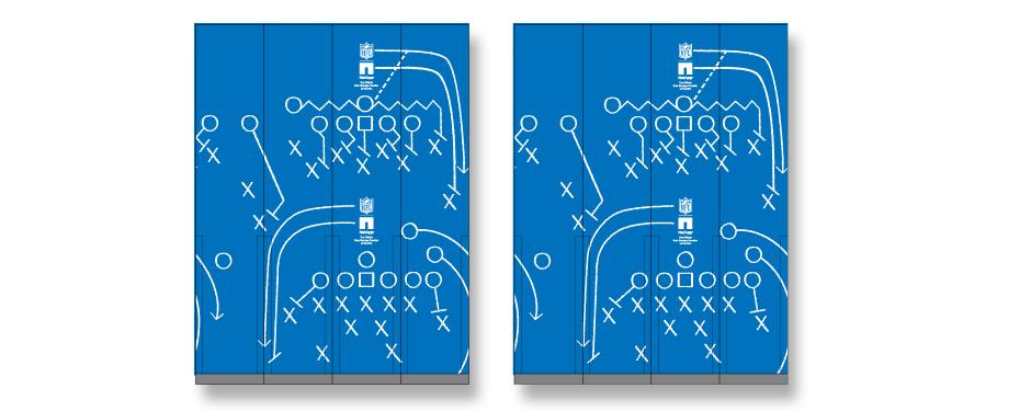 NetApp NFL Cafeteria Column Graphics