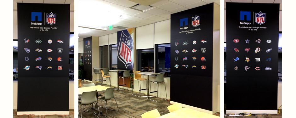 NetApp NFL Cafeteria Wall Image