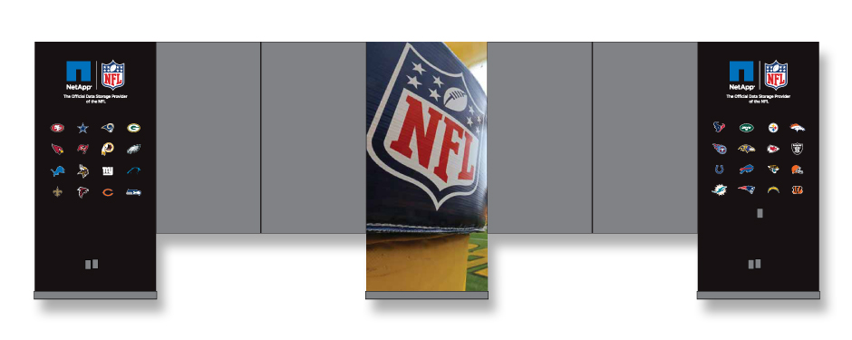 NetApp NFL Cafeteria Wall Graphics