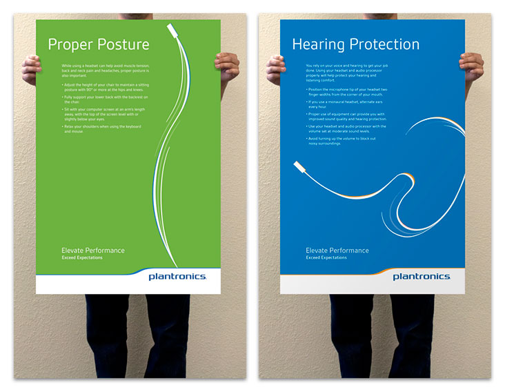 Proper Posture and Hearing Protection Posters