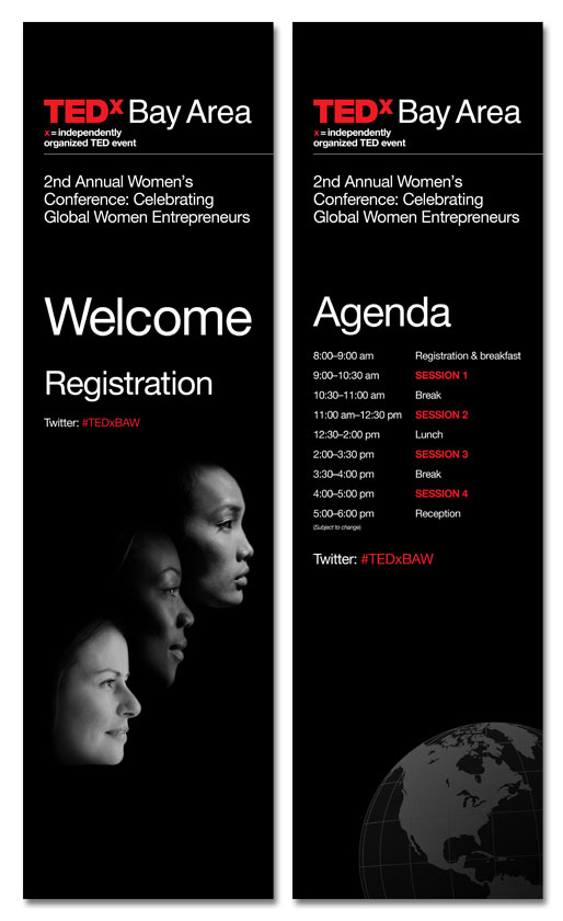 """24\""""x84\"""" Registration and Agenda Signs"""