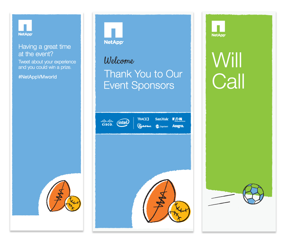 NetApp AT&T Event Signs