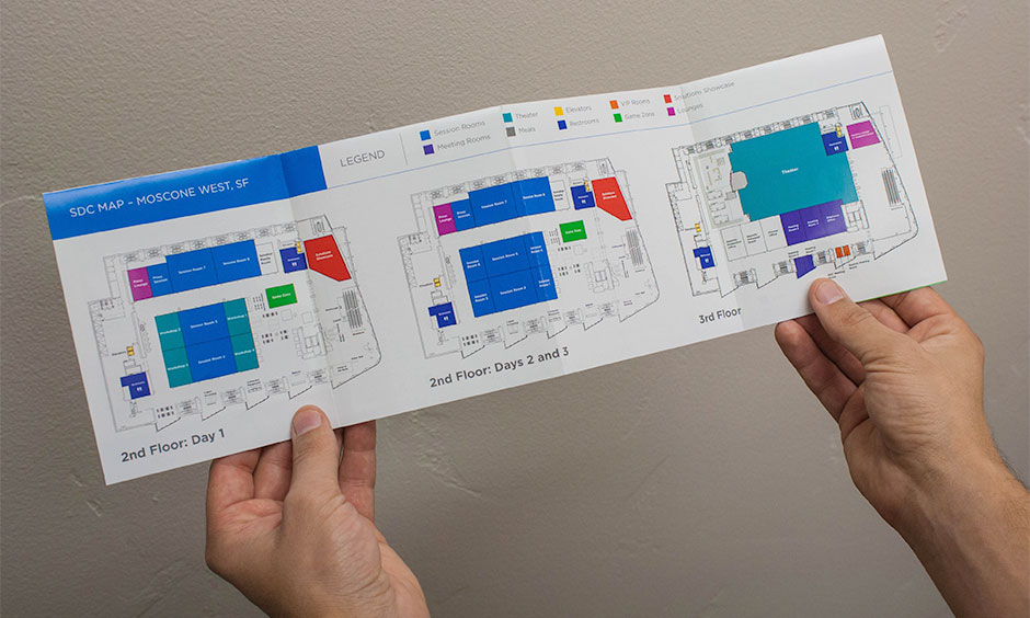 Samsung Developers Conference Pocket Guide Maps