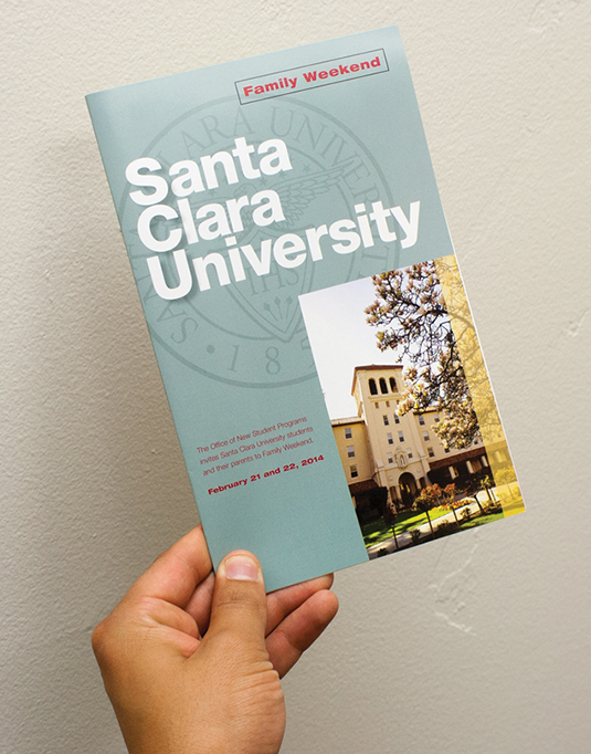 Santa Clara University: Family Weekend Mailer