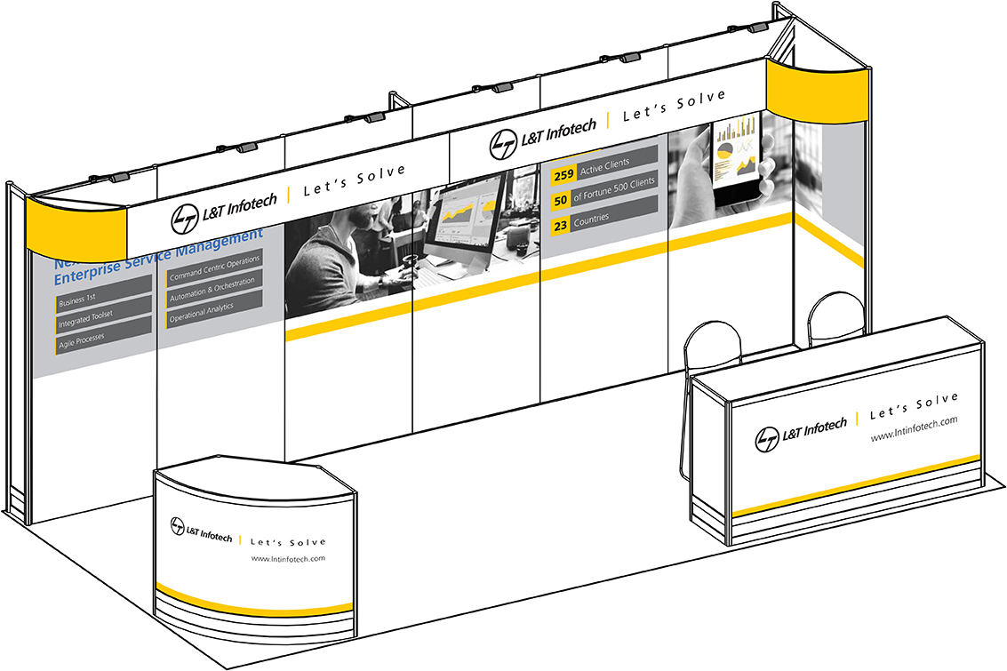 Isometric View of the Booth